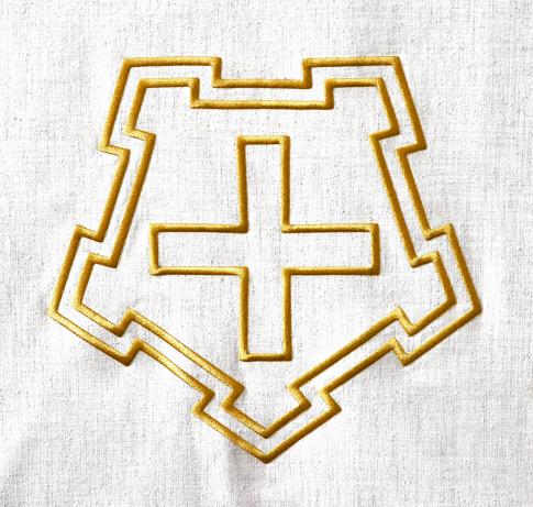 Cross in a pentagon