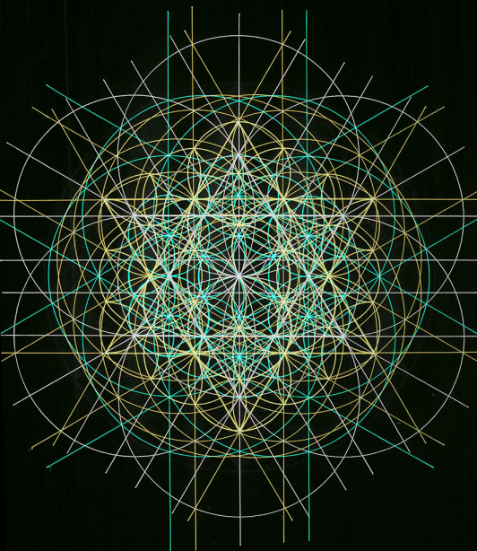 David's star - dual flower of life