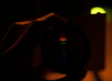 High pressure Na-lamp with DIY spectrometer