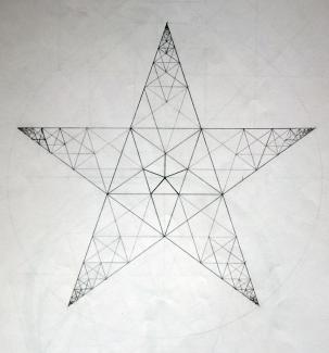 Pentagram fractal